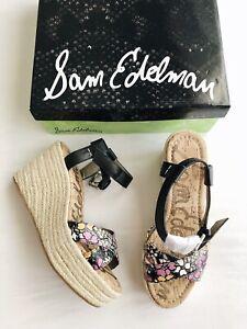 2083aa76c68 Details about New SAM EDELMAN Destin Espadrille Wedge Sandals Putty Women's  Size 8M $130 NIB