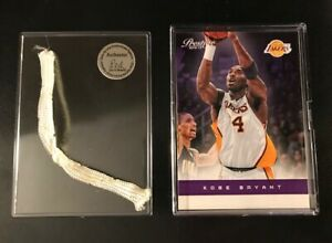 Kobe Bryant Card & Piece of Game Used Net Los Angeles Lakers NBA