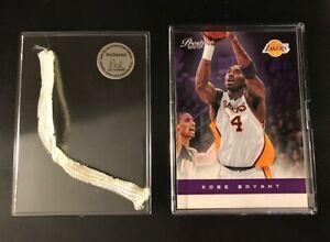Kobe-Bryant-Card-amp-Piece-of-Game-Used-Net-Los-Angeles-Lakers-NBA
