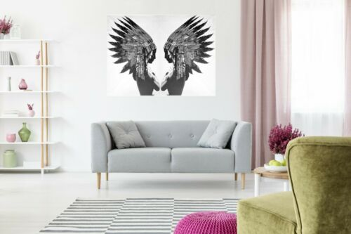 A1  PRINT INDIAN eagle urban street FEATHER NATIVE AMERICAN  POSTER print