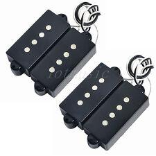 2 Set Electric Guitar Vintage Pickups For 4 String Precision P Bass Parts Black