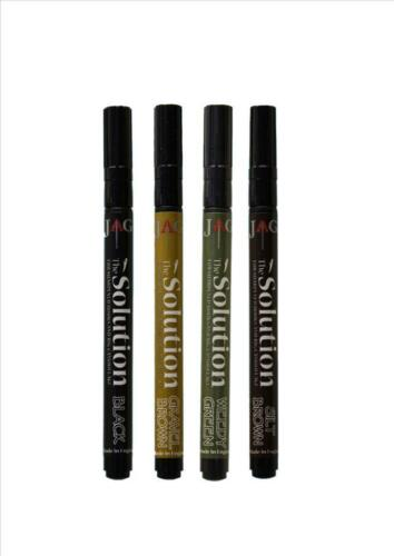 Weed Green NEW Carp JAG The Solution Anti Corrosion Camo Pens Silt Brown