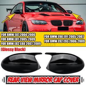 M3 Look Mirror Cover Cap Gloss Black For BMW E90 E91 05-07 E92 E93 06-09 PRE-LCI