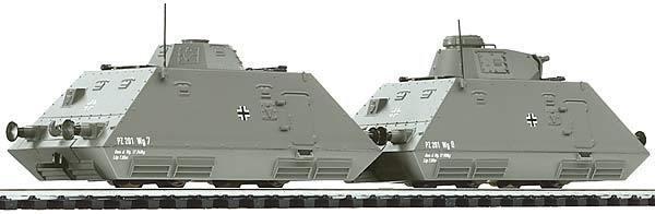 Liliput L 136503 Panzerspähzug 4 ohne Antrieb Wehrmacht EP II 2.Wk