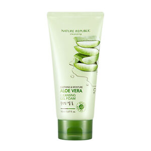 Nature-Republic-Soothing-amp-Moisture-Aloe-Vera-Cleansing-Gel-Foam-150ml