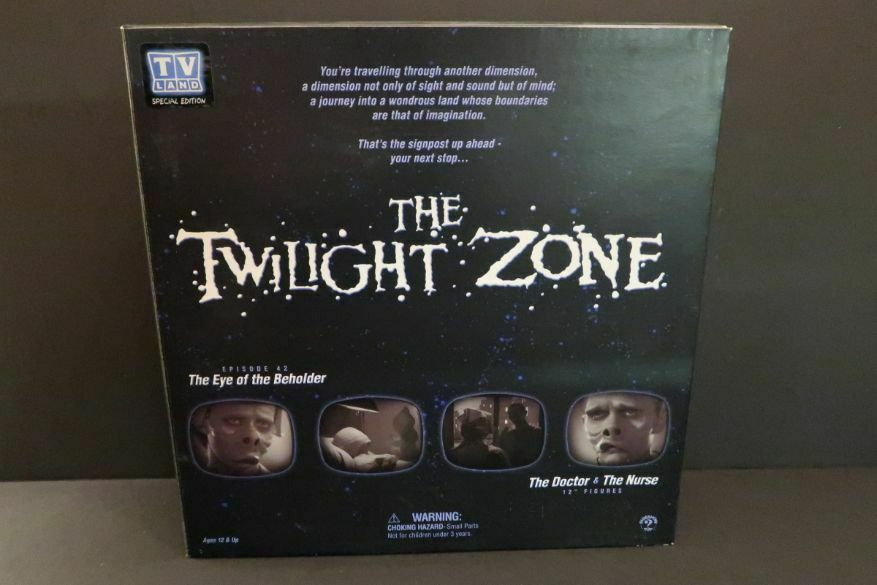 SIDESHOW Twilight zona Eye of the Beholder 12  Figuras Set  6900 Menta en caja 2002