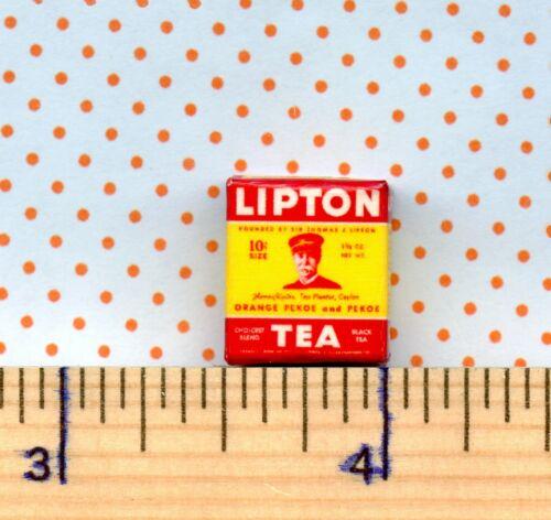 Dollhouse MINIATURE  Size  Vintage Lipton Tea Box