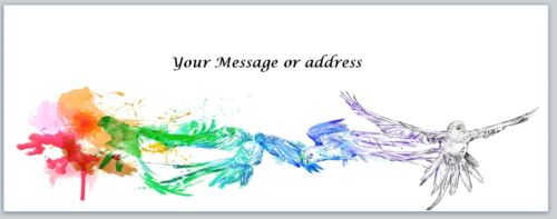 Personalized Address Labels Colorful Birds painting Buy 3 get 1 free bo 204