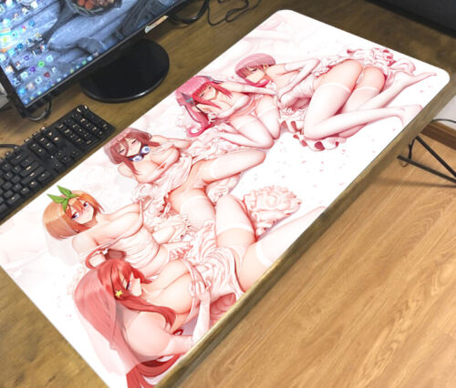 The Quintessential Quintuplets Anime Mouse Pad Mice Mat Game Playmat 70x40cm