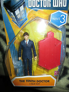 Doctor who  wave  3  10th  doctor in blue suit  3.75 inch figure
