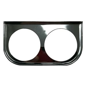 Universal Metal Chrome Under Dash Double Gauge Mounting Panel 2-1/16 Inch