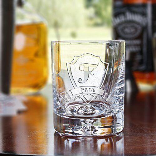 YOUR LOGO carved on 4 CRYSTAL whiskey, bourbon, scotch, DOF glasses (Set of 4)
