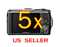5x Olympus Tough Tg-1 Digital Camera Lcd Screen Protector Guard Shield Film