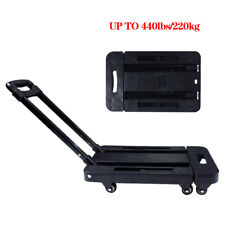 440lbs Cart Folding Dolly Collapsible Trolley Push Hand Truck Moving With 6 Wheels