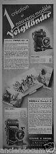 PUBLICITE 1933 VOIGTLANDER MODÈLE INOS II 6x9 SCHOBER & HAFNER - ADVERTISING