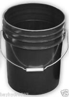 Black 5 Gallon Bucket With Handle Variation $$ Save With Bay Hydro $$