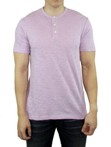 VINCE Brand Men/'s Cotton SS Henley Tee T-Shirt Top White Coastal Blue Shirts