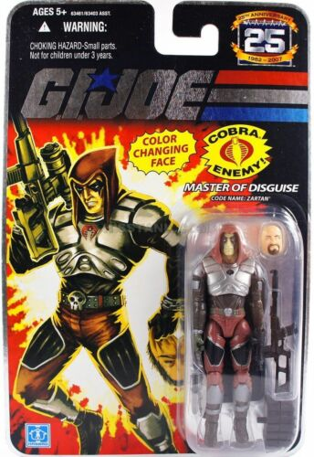 MASTER of DISGUISE COLOR CHANGING FACE G.I.JOE 25th ANNIVERSARY ZARTAN