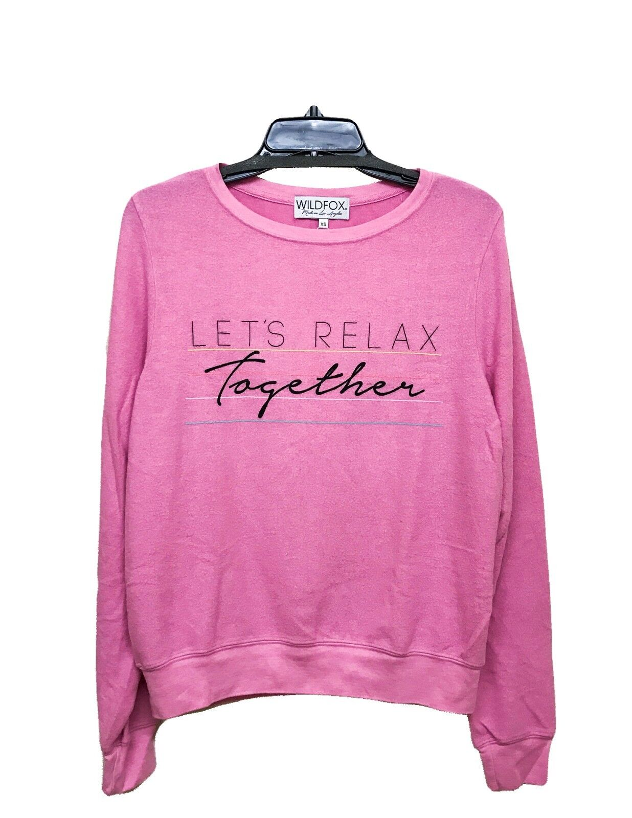 Wildfox Couture damen Lets Relax Together BBJ Rosa Sweater Shirt Top XS S M L