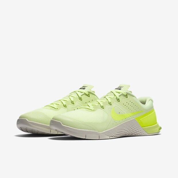Men's Nike Metcon 2 Volt Bone Black Uk Size 8.5 819899-700 Running Gym