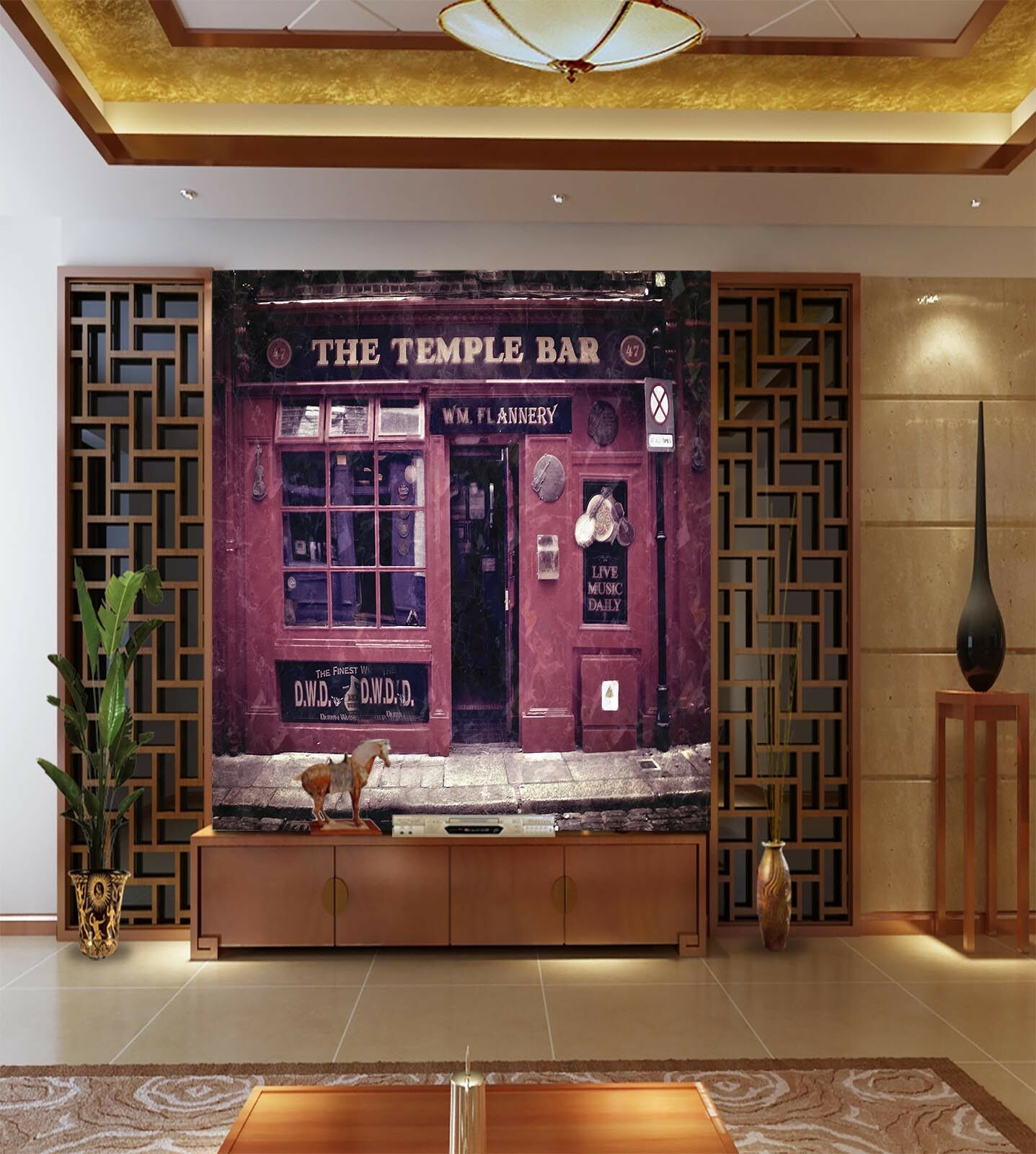 3D The Temple Bar 85 Wall Paper Murals Wall Print Wall Wallpaper Mural AU Kyra