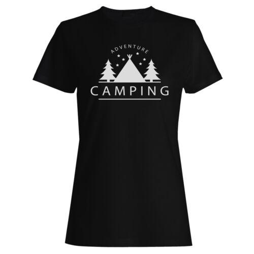 Adventure camping Ladies T-shirt//Tank Top v205f