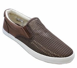 MENS-BROWN-FLAT-CASUAL-SLIP-ON-PLIMSOLL-PUMPS-HOLIDAY-COMFY-SHOES-SIZES-6-11