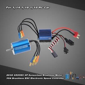 2838 4500kv 4p sensorless brushless motor 35a esc for 1 18 rc car rh ebay com Outrunner Brushless Motor Diagram Brushless Motor Pinout