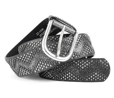 Damen Gürtel Nieten Metallic Ariane Vintage Nietengürtel Edel