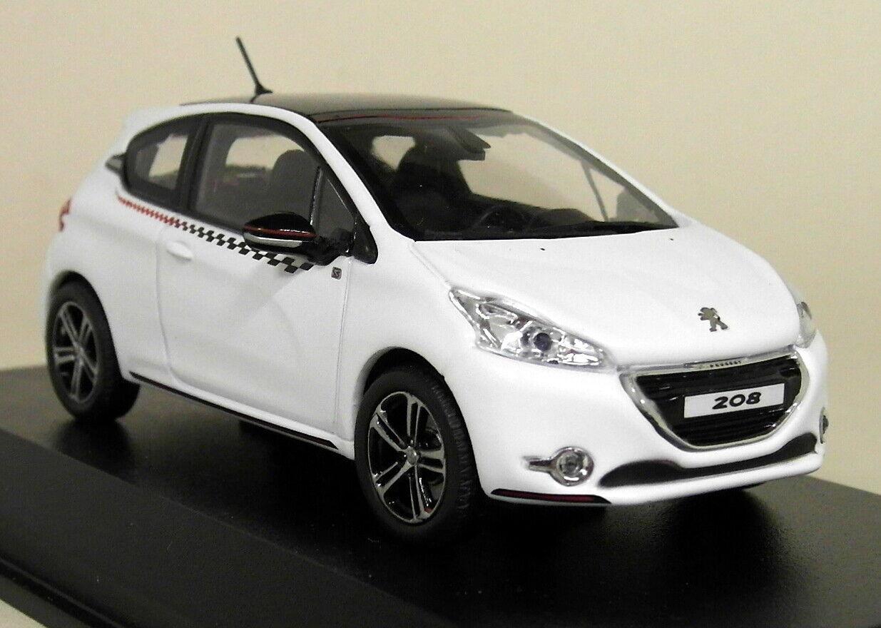 muchas sorpresas Norev escala 1 43 - 472802 Peugeot 208 208 208 Ligne S' 2012 blancoo Coche Modelo Diecast  ahorra hasta un 70%