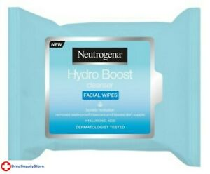 BL Neutrogena Hydro Boost Cleansing Wipes 25 Count - THREE PACK