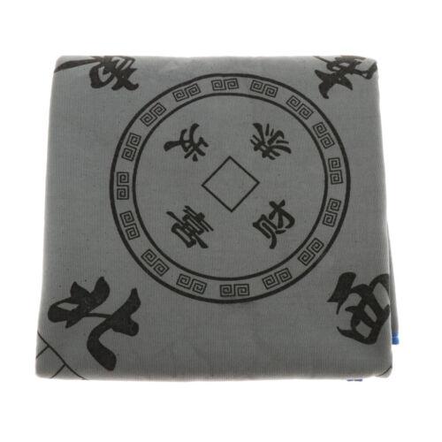 1x Mahjong Mat Paigow Card Game Table Cover Cloth Anti-Slip Dual-use Gray