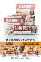 Labrada Lean Body Protein Bars 12 Count Natural Non Gmo Gluten Free Low Sugar