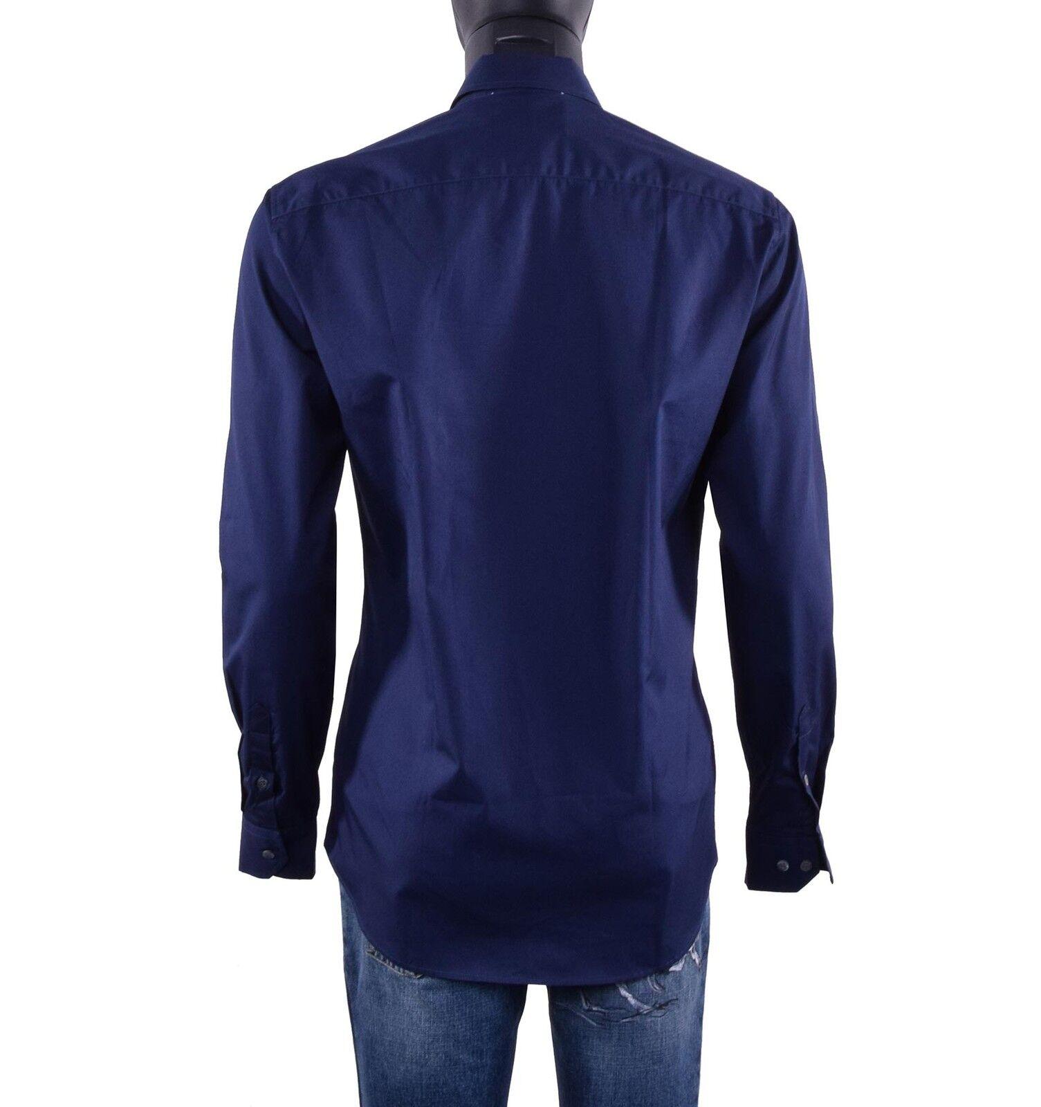 MOSCHINO Chemise Couture Business Chemise MOSCHINO avec brodé logo CHEMISE BLEU BLEU FONCÉ 05430 8501b3