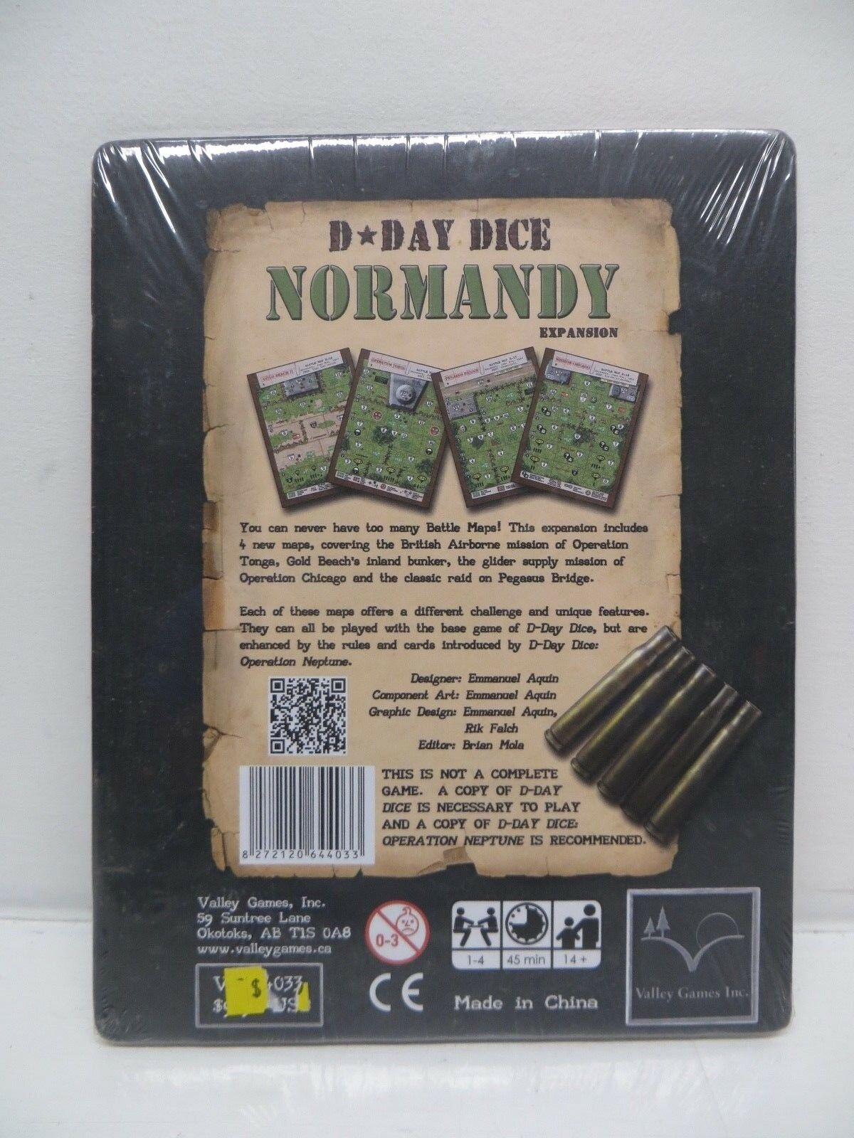 Valley dicegame D-DAY Dice-NORMANDIE Expansion