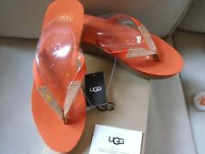 d7e356c6c642 UGG Australia Ruby Womens Size 10 Black Wedge Flip Flop Sandal
