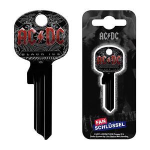 ACDC Fanschlüssel Black Ice - Univ. Schlüsselrohli<wbr/>ng U15D Lizenzierte Fanartikel