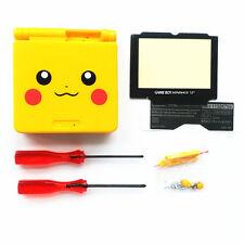 GBA SP Game Boy Advance SP Replacement Housing Shell Screen Lens Pikachu Yellow