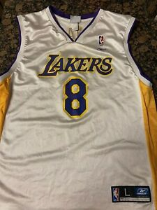 Details about AUTHENTIC! Reebok Kobe Bryant Los Angeles Lakers Jersey #8, Mens Large, VINTAGE!