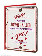 Brainbox Candy embossed wedding anniversary card funny modern humour trendy joke