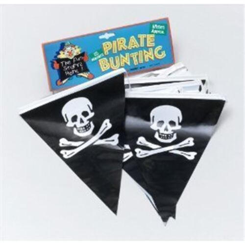7m Pirate Bunting With 25 Flags Party Decoration Skull