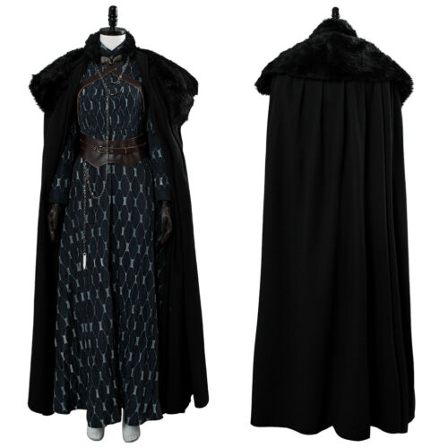 Game of Thrones S8 Sansa Stark Outfit Cosplay Costume Dress Suit Cape Halloween