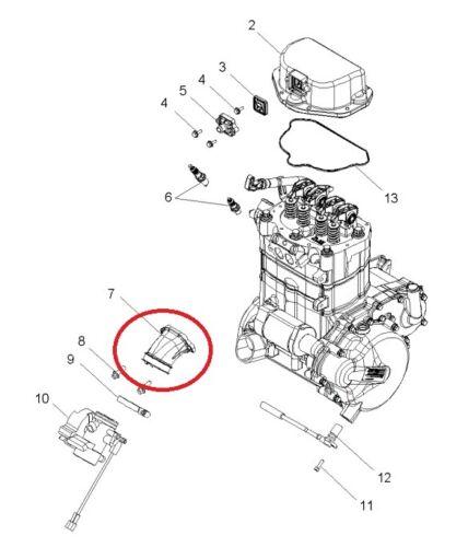 1253527 Carburetor Intake Manifold Boot For 04-09 Polaris Sportsman Ranger