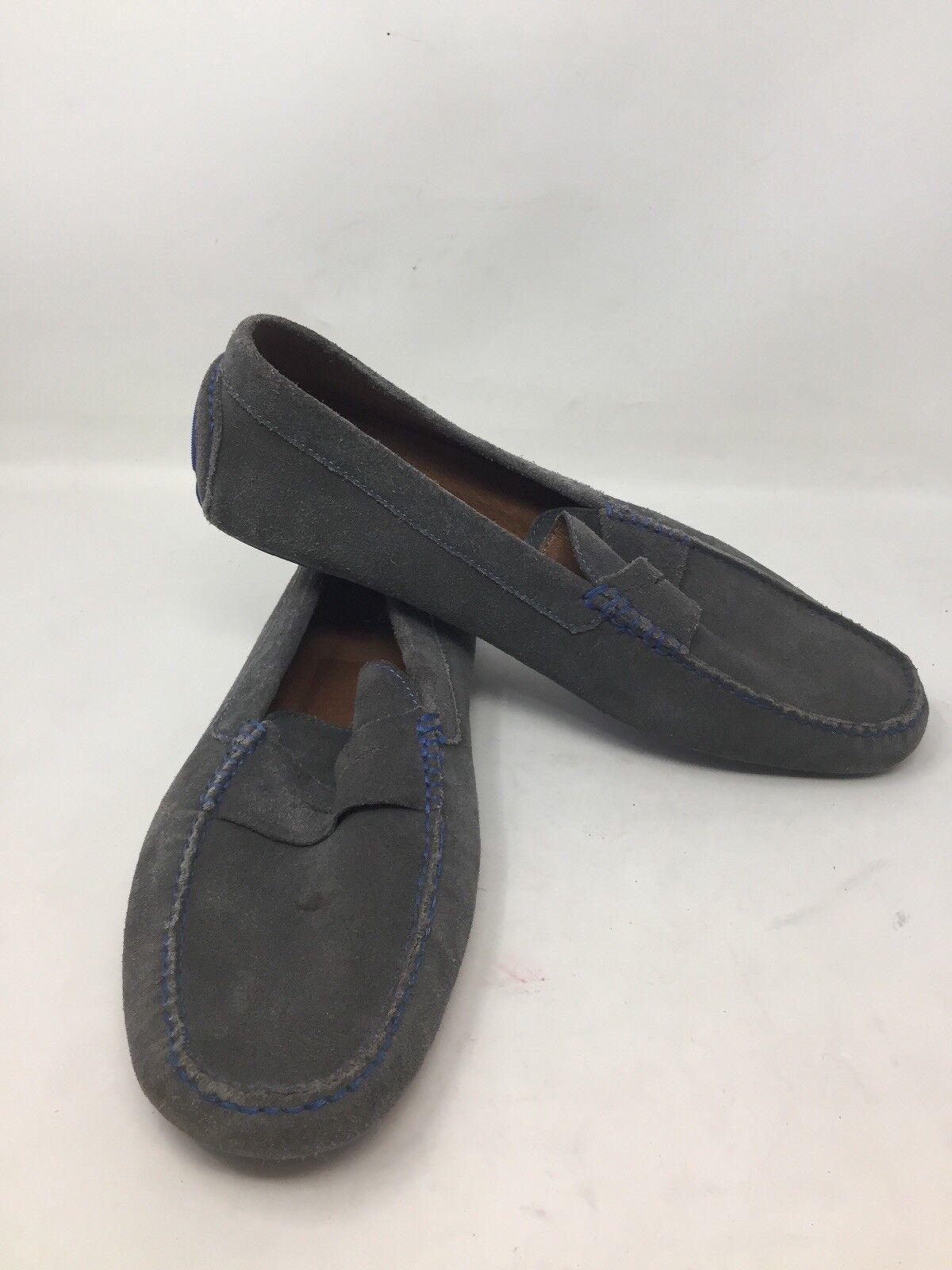 Donald J Pliner Grey bluee Suede Slip On Loafers Vincos Driving Mocs 12M B7A
