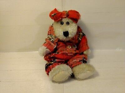 """Teddys Spielzeug ZuverläSsig Boyds Sammlung J.b Bohnen Series 10 """" Gefülltes Plüsch Bär In Plaid Schlafanzug"""