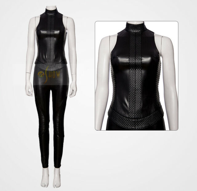 Superhero Alita Battle Angel Zentai Jumpsuit Pants Vest Cosplay Costume Full Set