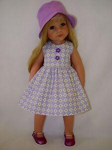 PUPPENKLEIDUNG für Götz Stehpuppe Hannah 50cm Kleidung Kleid u OHNE PUPPE Hut