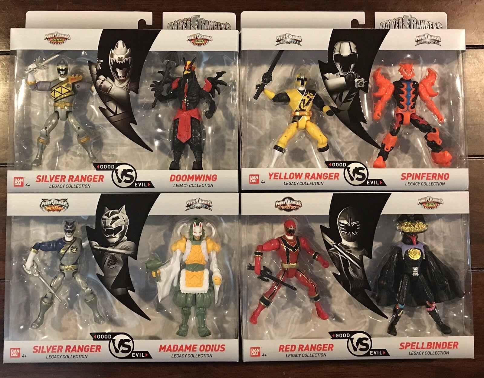 Nueva Colección Legado de Power Rangers buena Vs Evil 2 Packs-Conjunto de 4-Nuevo En Caja
