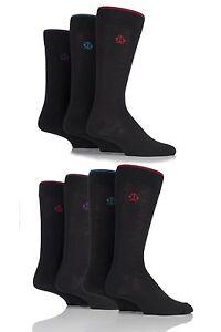 Mens-7-pares-de-calcetines-de-Jeff-bancos-Nuevo-Oxford-llano-con-contraste-basculante