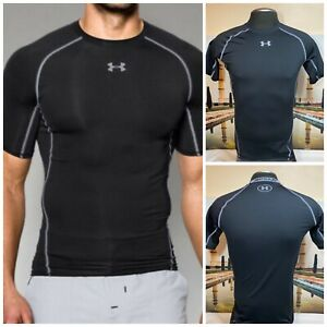 Under-Armour-HeatGear-Compression-Men-s-Short-Sleeve-Black-Ultra-tIght-Large